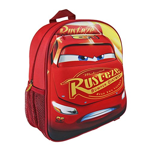 Disney 2100001962 Cars Lightning McQueen 3D Effect Junior Backpack, 31 cm