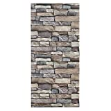 Natural Stacked Rock Brick Pattern Wall Stickers Vinyl Contact Paper Self-adhesive Peel-stick Wallpaper