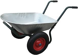 Brouette en PVC ind/éformable pour jardin avec pneu Maurer 100 L