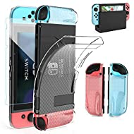 【 360 Degree All-Round Protection】 - This Console Case gives full protection for the main console, grip and screen, to perfectly protect your device from everyday drops, shocks, bumps, scratches, dust and fingerprints. 【 Dockable Case Compatible with...