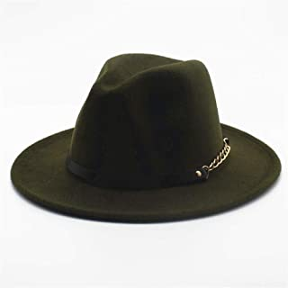 2019 Mens Womens Hats Womens Fashion Wool Polyester Fedora Hat for Women Lady with Leather Belt Party Hat for Lady Winter Autumn Casual Fascinator Hat Adjused Size