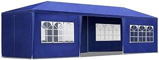 Instahut 3x9m Gazebo Outdoor Wedding Marquess Pop Up Tent Canopy-Blue