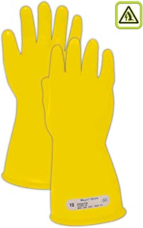 Magid Glove & Safety M-00-11-Y-9 Magid Class 00 Electrical Gloves, Capacity, Volume, Rubber, 9, Yellow