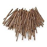ROSENICE Registro de pega para madera manualidades bricolaje foto atrezzo largo 0.3-0.5 CM de dimetro 10 CM 100pcs (Color madera)