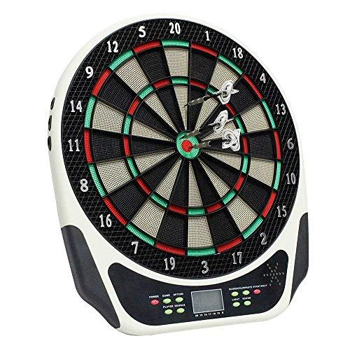 NBWS 43cm Dartscheibe Elektronische Sport Freizeit Elektronische Dartscheibe LCD mit Transparent Schutzhülle für 1-8 Spieler e Dart