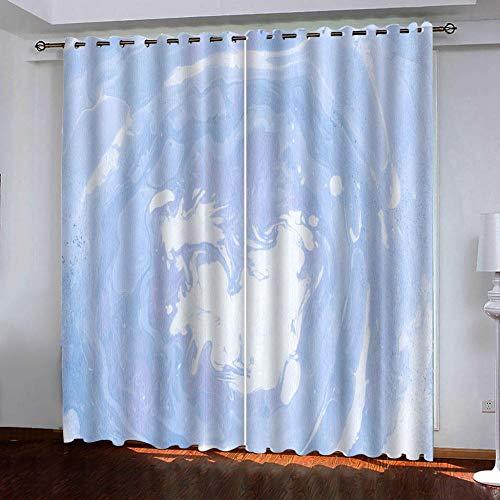 CHNXXL ondoorzichtig black-out gordijn met ogen geluiddempend gordijnen polyester 3D bedrukt blauwe hemel en witte wolken voor woonkamer slaapkamer kinderen of babykamer