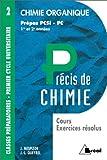 Chimie organique - PCSI, PC