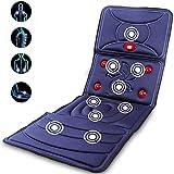 Massage du Dos Coussin Siège de Massage Fauteuil Massant Shiatsu avec 9 Moteurs de Vibration et Réglage de la Force à 9 Vitesses pour Le Bureau à Domicile