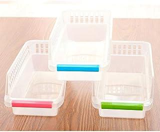 Warmwin Boîte en Plastique Transparente réfrigérateur boîte de Rangement Assortiment de Fruits et légumes conteneur Cuisin...