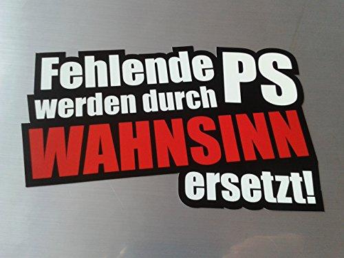 folien-zentrum Fehlende Ps Wahnsinn Shocker Hand Auto Aufkleber JDM Tuning OEM Dub Decal Stickerbomb Bombing Fun