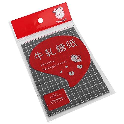 Voedselverpakkingsverpakking, bakken van snoepverpakkingspapier 500 stks keuken DIY voedselverpakking inpakpapier Dessert inpakpapier(Zwart)