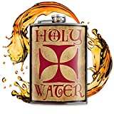Holy Water Flask - 8oz Flasks For Liquor For Men - Flask For Women - Stainless Steel Flask - Groomsmen Gifts - Whiskey Flask Funny - Alcohol Flask - Funny Flask For Men - Hip Flask - Trixie and Milo