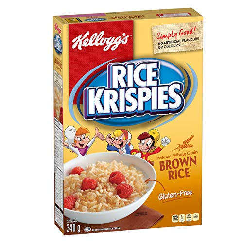 Kellogg's Rice Krispies Gluten Free Cereal 340g/11.99oz. (Imported from Canada)