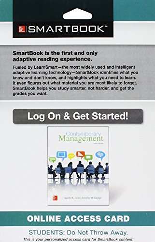 SmartBook Access Card for Contemporary Management by Gareth Jones (2015-01-23)