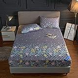 BOLO Funda protectora acolchada para colchón de microfibra suave que se ajusta perfectamente, protector de colchón...