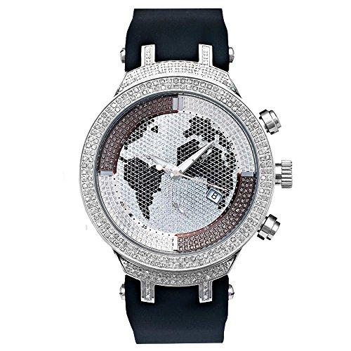 Joe Rodeo Reloj de pulsera para hombre con diamante – Master plata 2.2 ctw