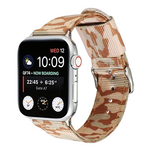 Correa de nailon verde militar para Apple watch 2 3 4 5 6 SE 38mm 42mm Correa de reloj de camuflaje para iwatch Series 40mm 44mm Pulseras deportivas
