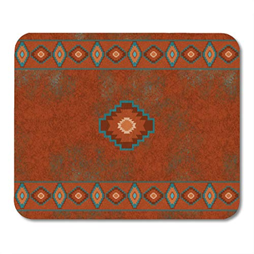 Aikul Mouse Pads Red Western Southwest Canyons Diamond Santa Tribal Native Desert Mouse Mat 9.5' x7.9' Mouse Pad Suitable for Notebook Desktop Computers Office Accessories