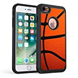 iPhone 7 Case,iPhone 8 Case, Rossy Heavy Duty Hybrid TPU Plastic Dual Layer Armor Defender Protection Case Cover for Apple iPhone 8 2017 / iPhone 7 2016,Basketball