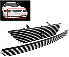 ZMAUTOPARTS Upper + Bumper Billet Grille Grill Insert Combo Pony Cutout For 1999-2004 Ford Mustang