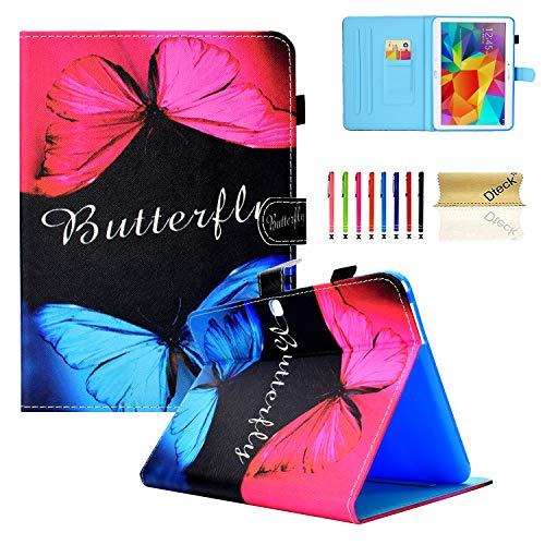 Galaxy Tab 4 10.1 Case,T530 Case,Dteck Auto Sleep Wake Smart Case Corner Protection Multi-Angle Viewing Folio Stand Cover Samsung Galaxy Tab 4 10.1 SM-T530NU T531 T535 Tablet,Butterfly Lover