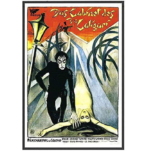 wzgsffs The Gabinet of Dr Caligari Movie 1920 Horror Classic Poster and...