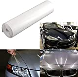 "Xotic Tech 12"" x 49"" Clear Headlight Bumper Hood Paint Protection Scratch Guard Film Vinyl Sheet Roll Universal for Cars SUV Truck"