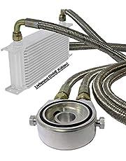Juego de conexión de refrigerador de aceite universal adecuado Adaptador de filtro de aceite con cable de acero