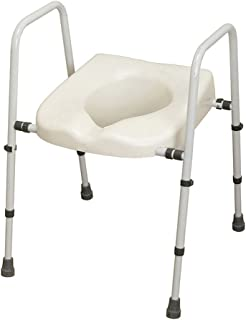 NRS Healthcare N36974 Mowbray Toilet Seat & Frame Lite - Width Adjustable - READY ASSEMBLED by NRS Healthcare