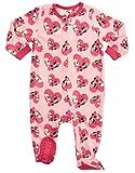 Leveret Kids Fleece Baby Girls Footed Pajamas Sleeper 100% Polyester (Bulldog, Size 12-18 Months)