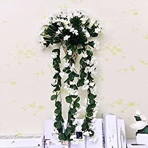 Artificial Flowers Yiting Flower dyed flowers decorated with plastic simulation rhododendron, white
