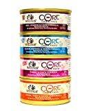 Wellness CORE Natural Grain Free Wet Canned Cat Food Variety Pack - 4 Flavors - 5.5-Ounce Cans (3 of Each Flavor - 12 Total Cans)
