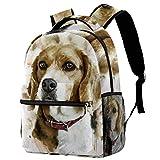 Dog Pregnant Canine Head Portrait Casual Backpack School Bag Travel Daypack