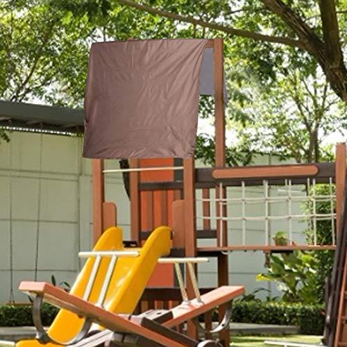 Omabeta Cubierta de Lona a Prueba de Polvo con sombrilla al Aire Libre de Cuatro Esquinas para Caminar, Acampar, mochilero(Brown)