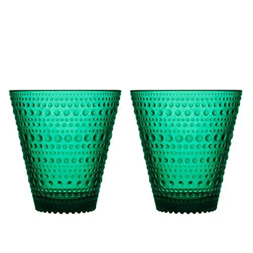 Iittala - Kastehelmi - Glas/Trinkglas/Wasserglas - 30 cl - Emerald/Grün - 2 Stück