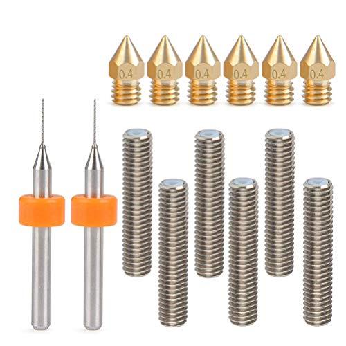 Doris Direct - 6 boquillas extractoras de latón de 0,4 mm +...