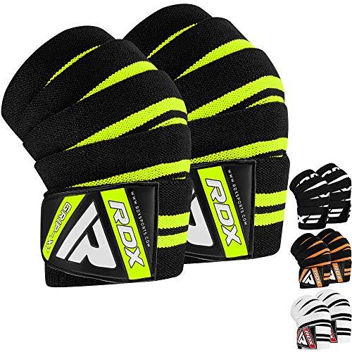 RDX Kniebandagen für Gewichtheben   Genehmigt von IPL und USPA   Elastische Knieschützer für Kraftsport, Bodybuilding   Powerlifting Kniestütze, Fitness Training Sport, Kniegurt Kreuzheben (MEHRWEG)
