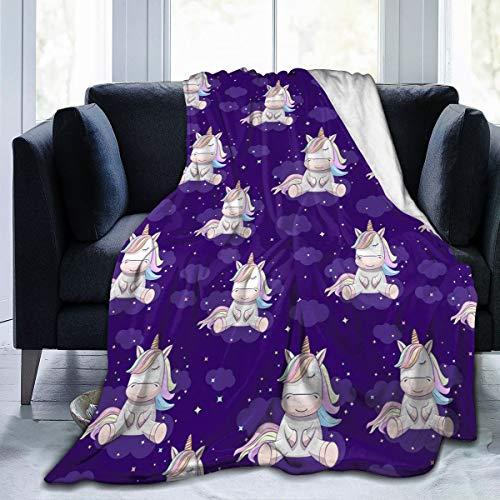 IU POP-Street Best Fleece Bed Blankets, Cartoon Unicorn Wedding Throw Blankets, Fall Ultra Soft Quality Blanket fit Kids Recliner CarSummer Air Conditioning Blanket