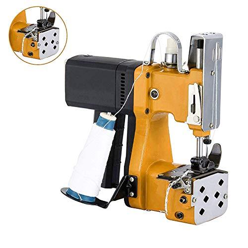 S SMAUTOP Máquina de coser portátil Máquina de coser más cercana Bolsa de embalaje eléctrica Sellado de costura para bolsa de plástico de papel de arroz saco de piel de serpiente (amarillo)