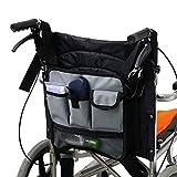 Cane Multifunktionale Rollstuhltasche, zusammenklappbar, Zubehör für Rollator und Rollstuhl,...