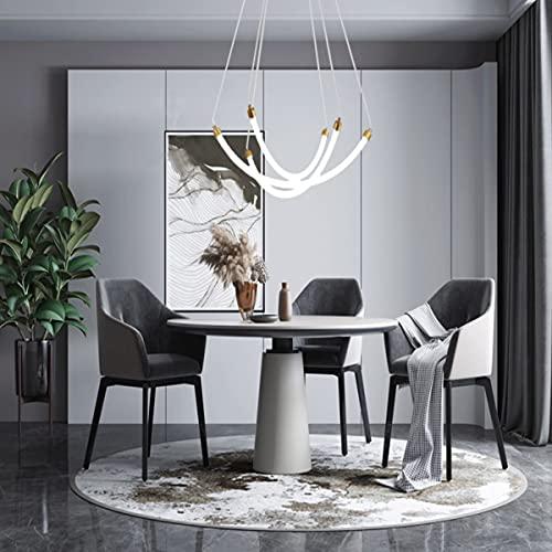 JICAI Lámpara colgante Lámpara de mesa de comedor moderna Lámpara de techo ajustable en altura Lámpara de techo LED Adecuado para mostrador de bar de restaurante (luz blanca)