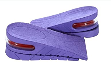 Eforstore Unisex 1 Pair 5CM Taller 2-Layer Height Increase Invisible Elevator Half Shoes Insole Heel Lift Inserts