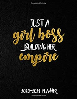 Just A Girl Boss Building Her Empire 2020-2024 Planner: 5 Year Monthly Organizer & Agenda with 60 Months Spread View. Five Year Calendar with Inspirational Quotes, Notes, To Do's & Vision Boards.
