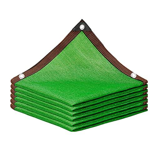 HWBB Velas de Sombra Patio Rectangular Paño de Malla de Sombra con Ojales, Pantalla de Privacidad de Sombrilla Verde para Pérgola/Patio/Techos/Balcones/Ventanas, Paño de Protección Solar Resistente