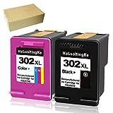 HaLuoYingKe Cartouche d'encre de rechange pour imprimante HP 302 302XL Compatible avec HP OfficeJet 3830 3831 3833 4650 4655 DeskJet 3630 3636 2130 1110 3633 3638 Envy 4525 4520 4522 4527 4524 Noir