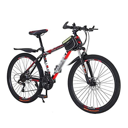 26 En Ruedas Bicicleta De Montaña Frenos De Disco Daul 21/24/27 Velocidades Bicicleta para Hombre Doble Suspensión MTB para Hombres Mujer Adultos Y Adolescentes (Tamaño: 24 Velocidades, Color: Azul)