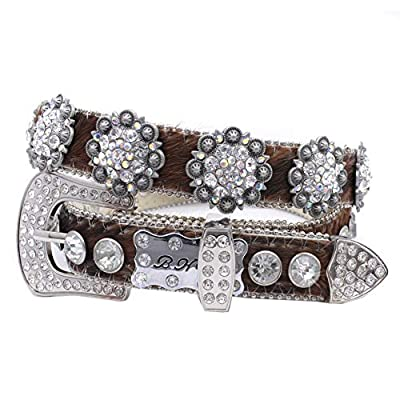 1350 Plus Size Womens Belts Womens Western Belts Cowgirl Bling Belts Rodeo Belts Plus Size Western Belts For Cowgirls (EXOTIC-BROWN-COWHIDE, XXXL)