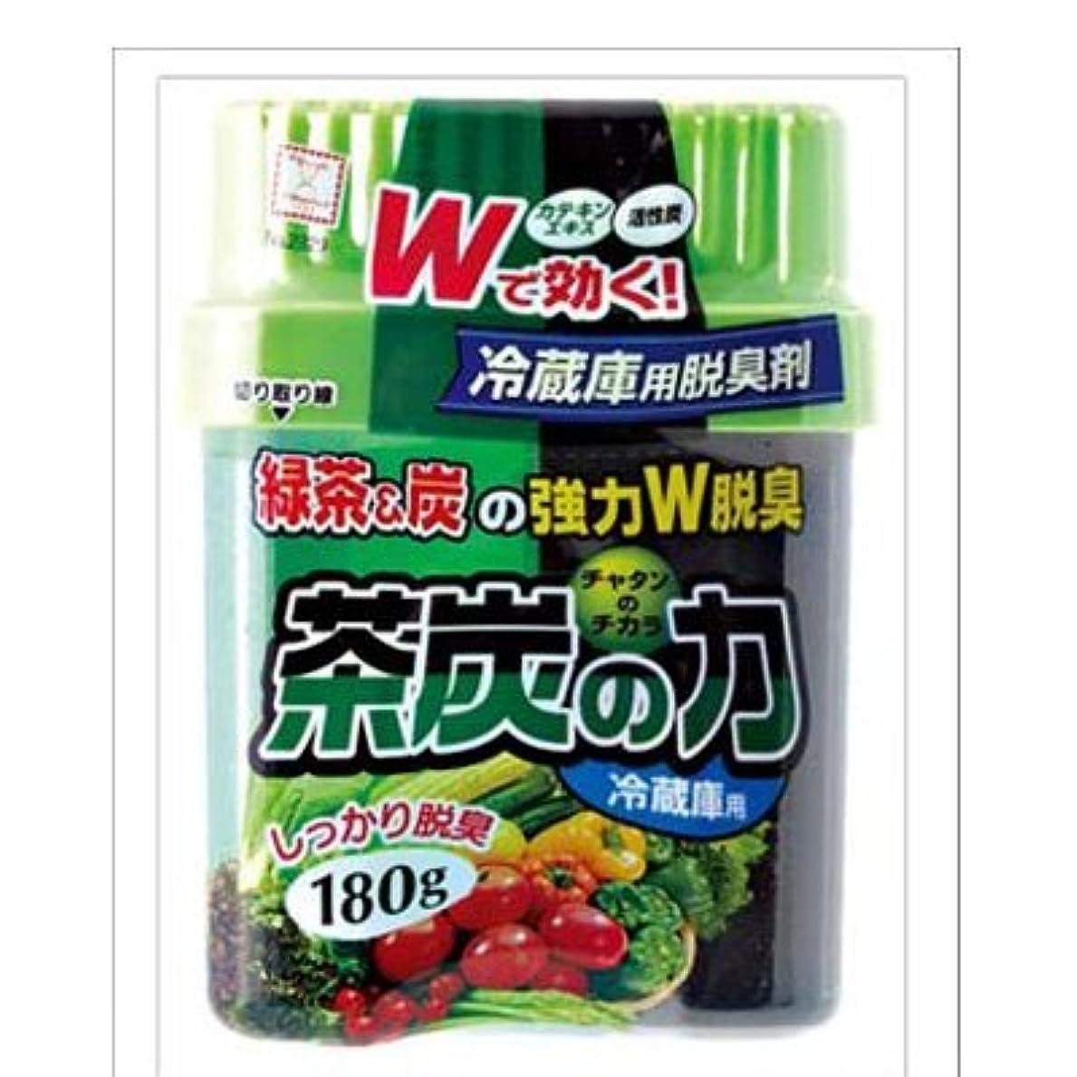 オーナメントステージ陽気な小久保(Kokubo) 茶炭の力 冷蔵庫用脱臭剤 180g【まとめ買い6個セット】 2329