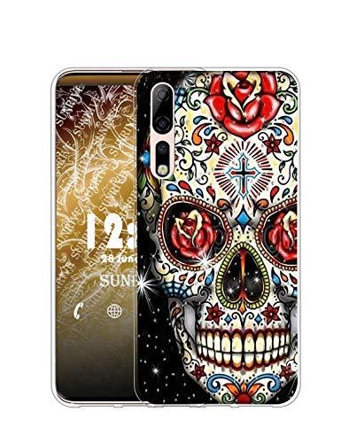 Sunrive Kompatibel mit ZTE Axon 10 Pro 5G Hülle Silikon, Transparent Handyhülle Schutzhülle Etui Hülle (Q Skelett)+Gratis Universal Eingabestift MEHRWEG