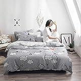 IRCATH Angenehme Mikrofaser - Baumwolle Schleifen vierteilige einfache Bettlaken, Bett vierteilige Baumwolle Himmel Stadt-1,5 m Bett 4 Vier Sätze